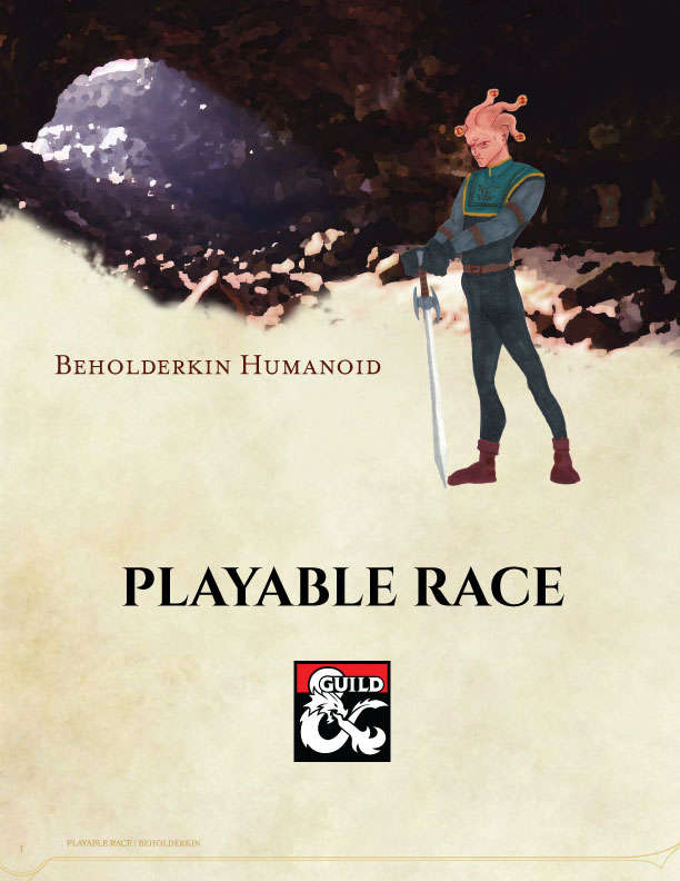 Beholderkin Humanoid Playable Race - Dungeon Masters Guild