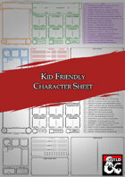 Kid Friendly Character Sheet