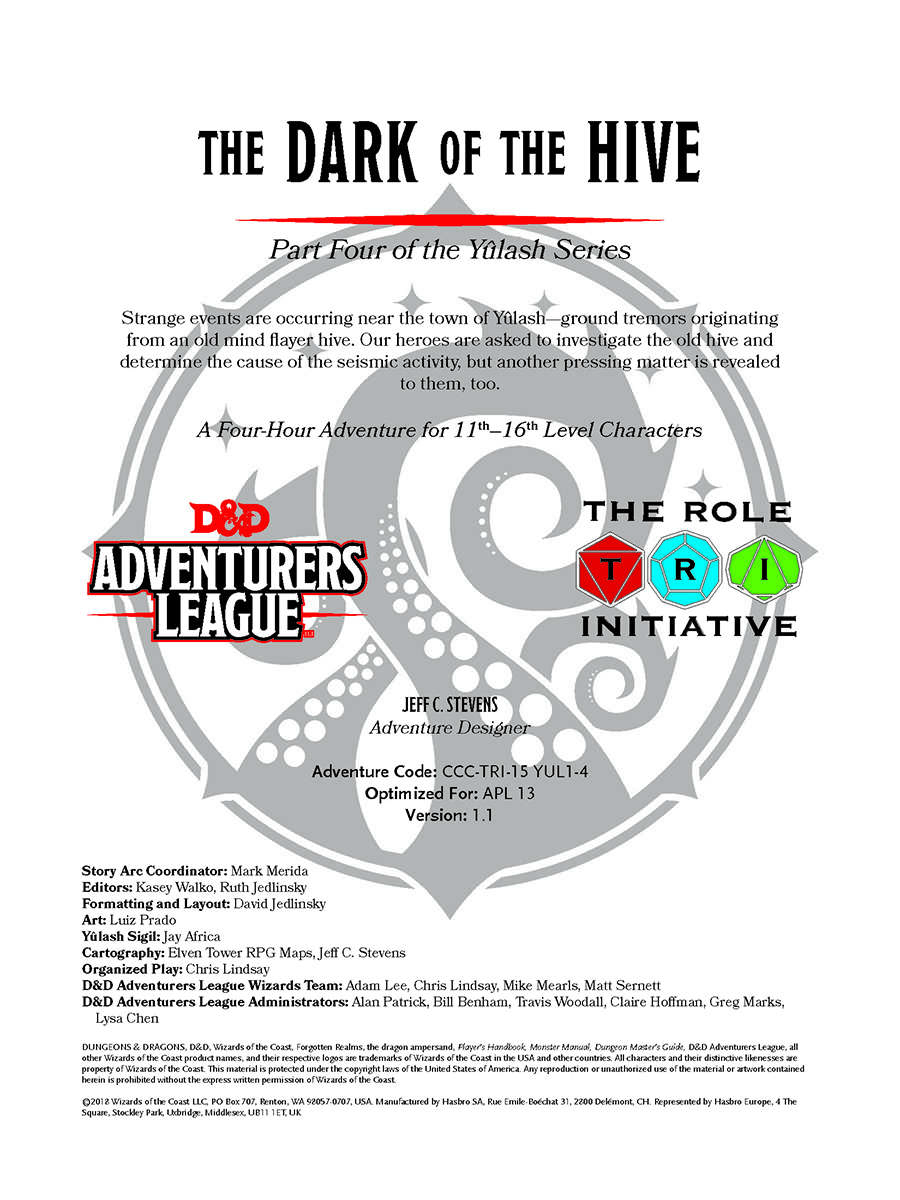 CCC-TRI-15 The Dark of the Hive by Jeff Stevens