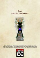 5th Edition Bard Subclass: The College of Eternity