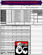 Simple Character Sheet for 5E