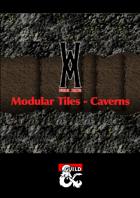 Modular Tile Set - Caverns
