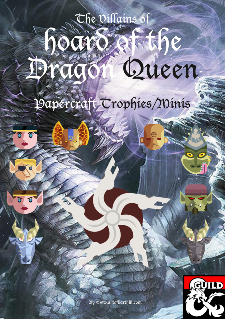 Hoard of the Dragon Queen & Rise of Tiamat-Papercraft Trophies & Minis -  Dungeon Masters Guild | DriveThruRPG com
