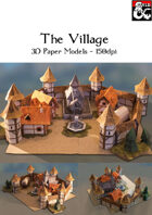 The Village - 3D Paper Models for Battle Maps - 150DPI