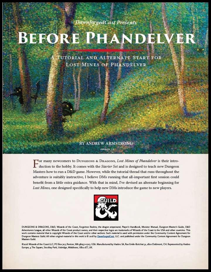 Cover of Before Phandelver - A Tutorial Adventure