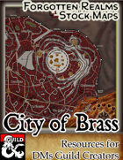 The City of Brass - Forgotten Realms Stock Art