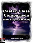 Caster Class Comparison (New Player Handout)