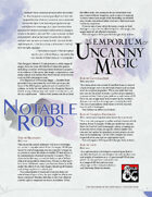 The Emporium of Uncanny Magic — Notable Rods