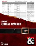 Simple Combat Tracker