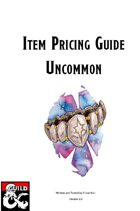 Item Pricing Guide: Uncommon