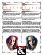 NPC Character Sheets