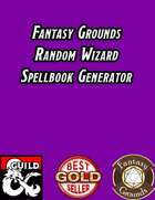 Random Wizard Spellbook Generator