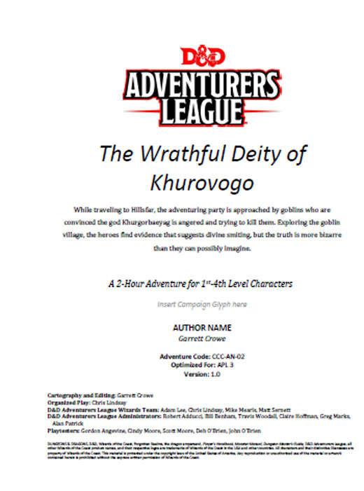 CCC-AN-02 The Wrathful Deity of Khurovogo cover art