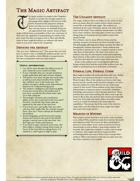 The Magical Artifact: Player race for D&D 5e