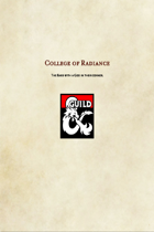 Bard Subclass-College of Radiance
