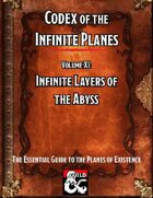 Codex of the Infinite Planes Vol 11 The Abyss