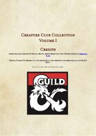 Creature Club Collection Volume 1