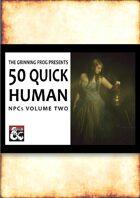 50 Quick Human NPCs Vol 2