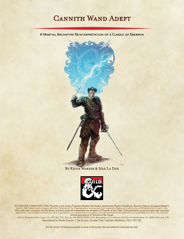 Cannith Wand Adept of Eberron (5e Conversion) - Dungeon