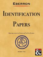 EBERRON Identification Papers