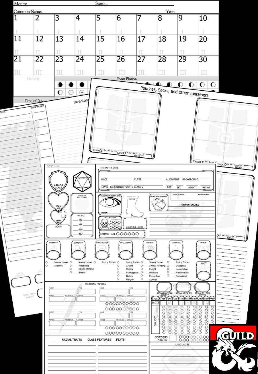 Modular Character Sheets