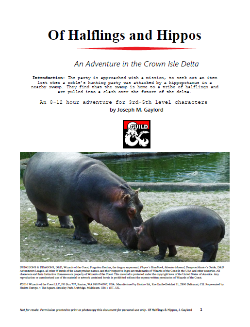 Of Halflings and Hippos cover