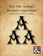 Ahrahn Player Companion (5e)