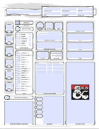 D&D 5E Character Sheet (editable/fillable, printer friendly, auto calculates bonuses)