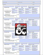 D&D 5E Character Log Sheet Season 8 Adventurers League (editable/fillable, printer friendly, auto calculates totals)
