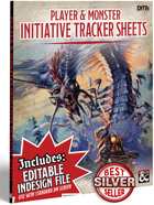 DM Helper Player & Monster Initiative tracking Sheets