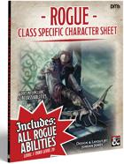Player's Helper Class Specific Character Sheet - Rogue