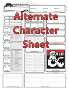 Alternate Character Sheet (2 Page)
