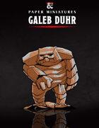 Galeb Duhr Paper Miniature
