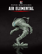 Air Elemental Paper Miniature
