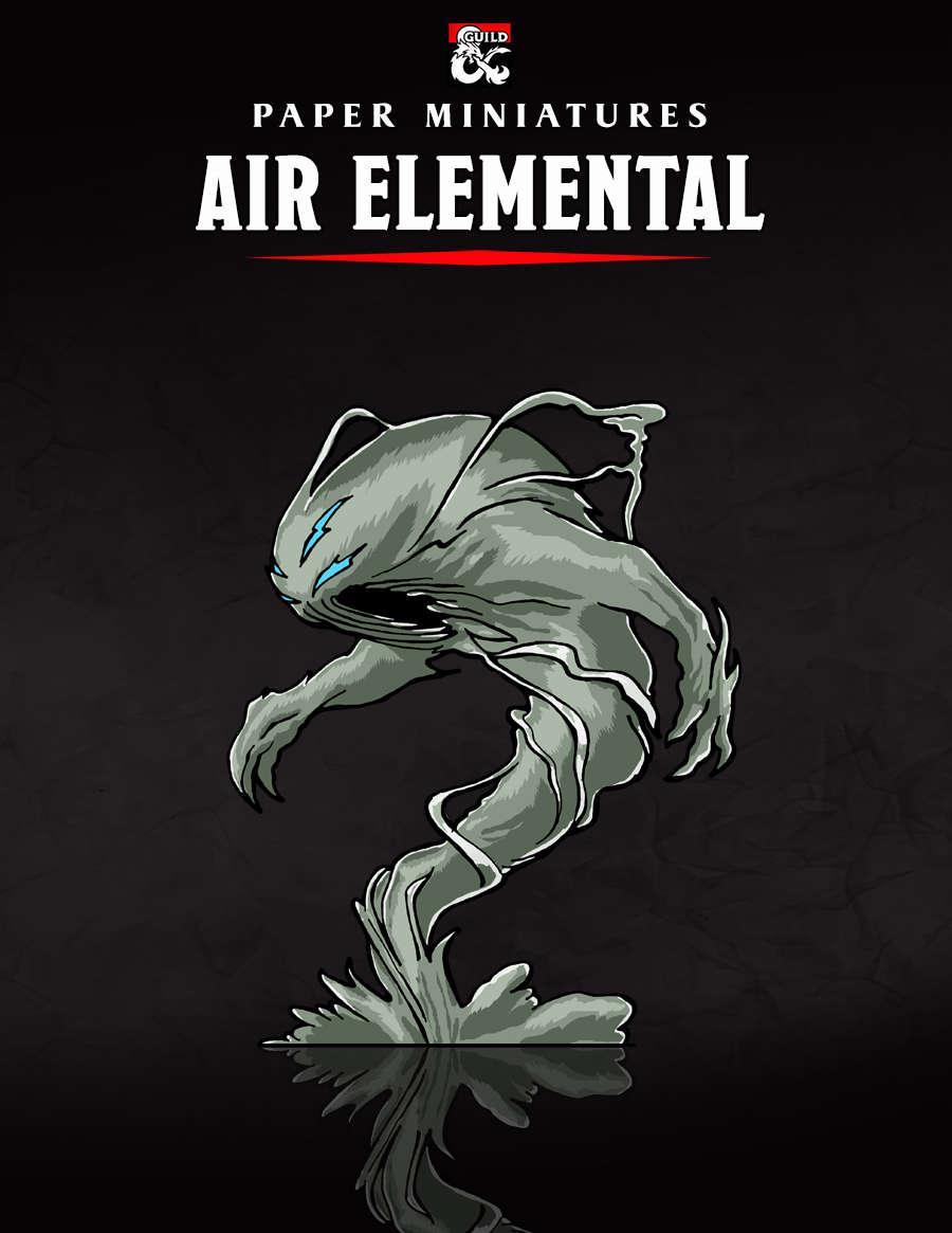 Air Elemental Paper Miniature - Dungeon Masters Guild | Dungeon
