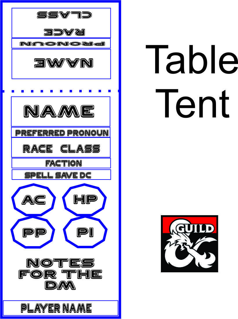 Table Tent - Dungeon Masters Guild | Dungeon Masters Guild