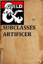 Subclasses Artificer 1.1