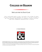 College of Reason - Bard College Option