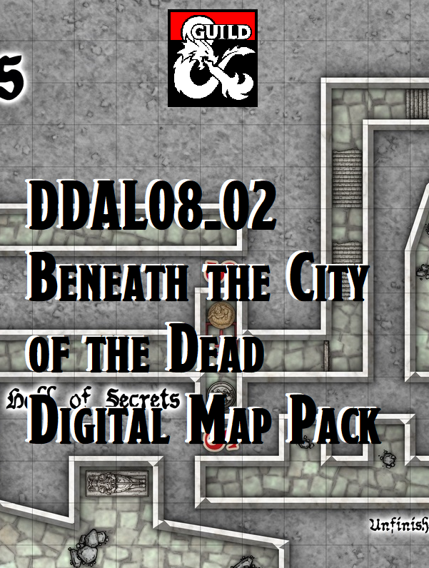 DDAL08-02 Digital Map Pack - Beneath the City of the Dead