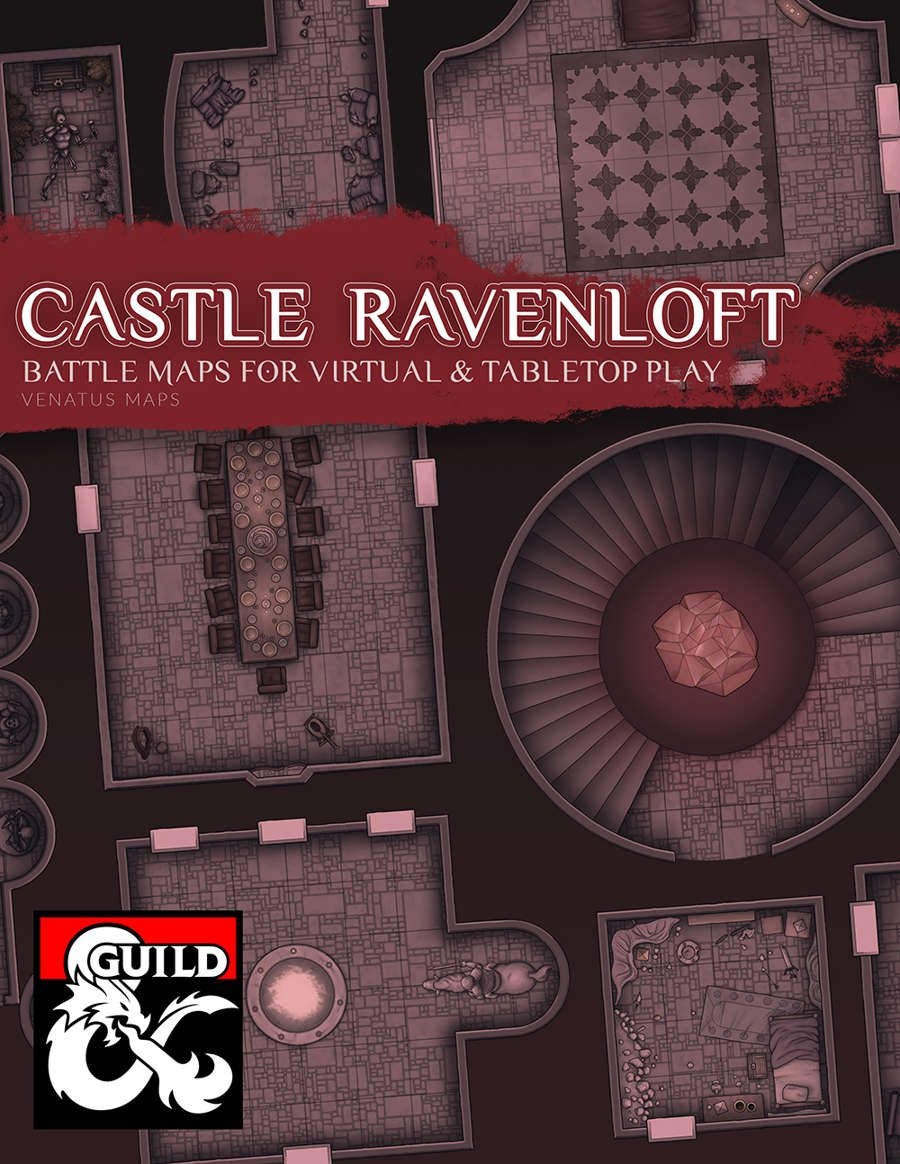 Castle Ravenloft Battle Maps - Dungeon Masters Guild | Dungeon Masters Guild