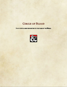 Druid Subclass-Circle of Blood