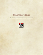 Class Option-Lycanthrope