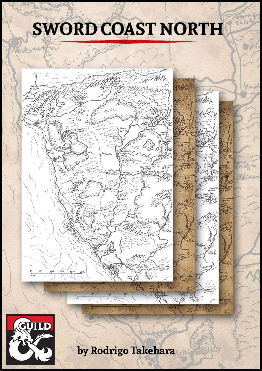 Sword Coast North Map - Dungeon Masters Guild | Dungeon Masters Guild