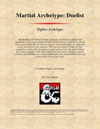 Martial Archetype: Duelist