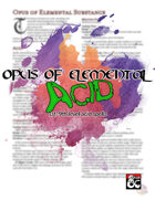 Opus of Elemental Acid
