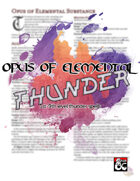 Opus of Elemental Thunder