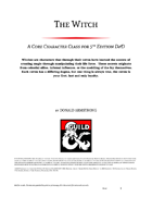 Witch Class 5E