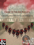 Order Of The Red Knights