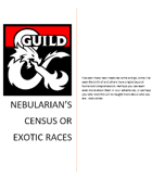 Nebularian's census of exotic races