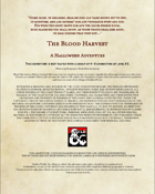 The Blood Harvest - (5e) Horror Adventure